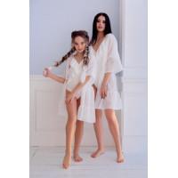 Детская пляжная туника дочка и мама