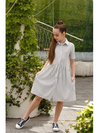 Літнє дитяче плаття рубашка в полоску