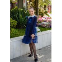 Нарядное школьное платье с белым воротником
