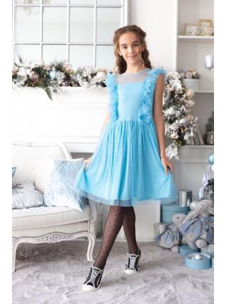 Нарядное детское платье с сеткой