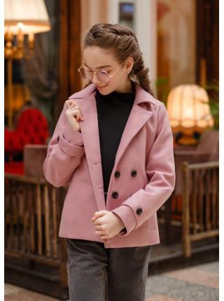 Короткое пальто кашемировое детское
