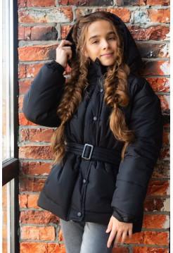 Детская зимняя куртка с капюшоном для девочки