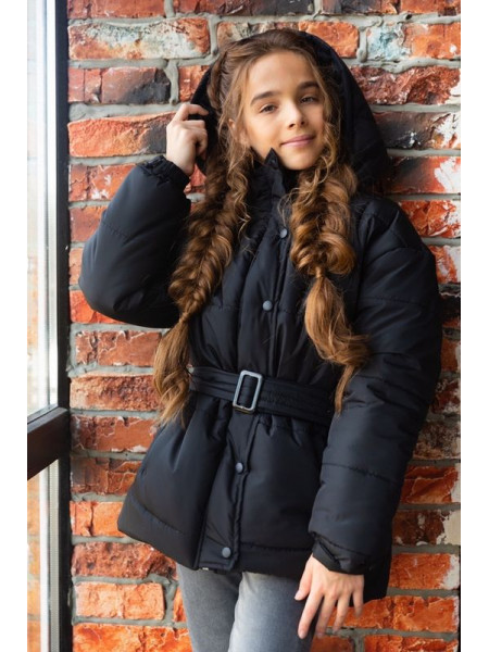 Дитяча зимова куртка з капюшоном для дівчинки