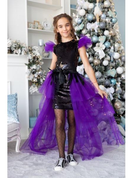 Детское платье со шлейфом на выпускной