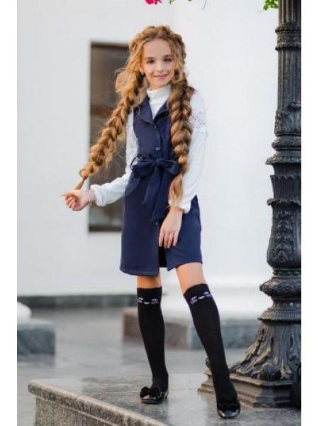 Детский школьный сарафан на пуговицах