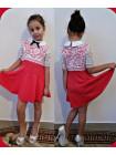 Детское платье с белым кружевом