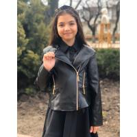 Кожаная детская куртка косуха