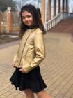 Шкіряна дитяча куртка косуха