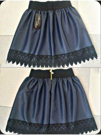 Кожаная юбка для девочек