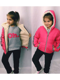 Зимний костюм на овчине для девочки