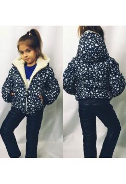 """Детский костюм для зимы на девочку """"Звезды"""""""