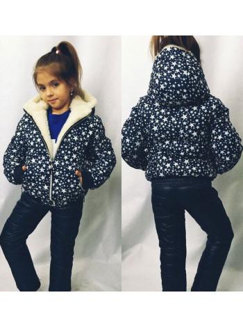 """Дитячий костюм для зими на дівчинку """"Зірки"""""""