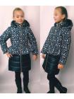 Зимняя стеганная куртка на девочку