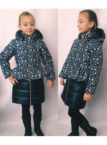 Зимова стьогана куртка на дівчинку