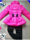 Яскрава дитяча куртка з бантиком