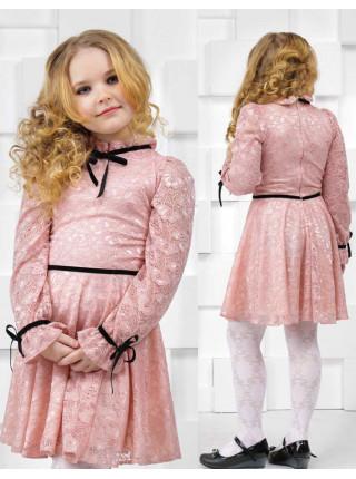 Детское гипюровое платье с рукавом