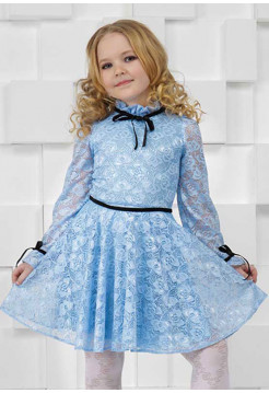 Дитяче гіпюрове плаття з рукавом