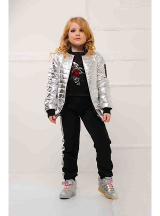 Дитяча куртка на дівчинку весна-осінь металік