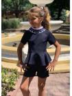 Школьная форма с шортами для девочки