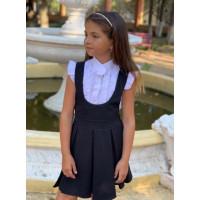 Дитячий шкільний сарафан синій чорний