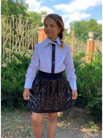 Красивая детская юбка из пайеток