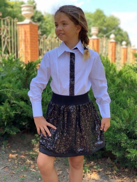 Детская блузка с длинным рукавом