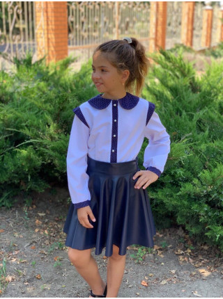 Блузка детская белая с длинным рукавом