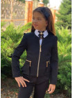 Детский пиджак на молнии для девочки