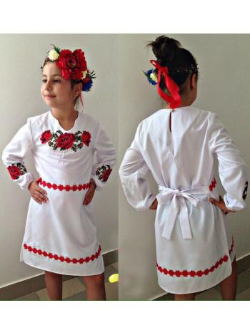 Вышиванка платье детское с длинным рукавом