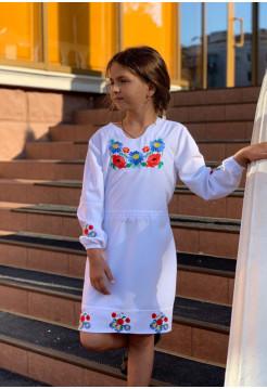 Дитяча вишиванка плаття з рукавом