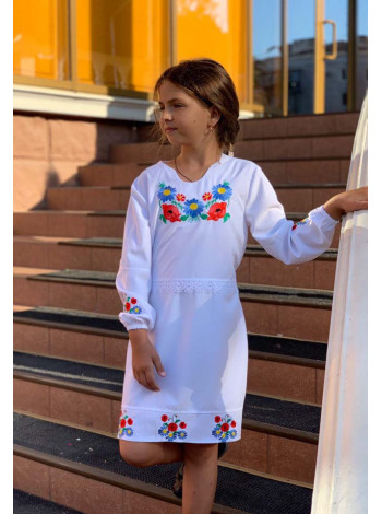Детская вышиванка платье с рукавом
