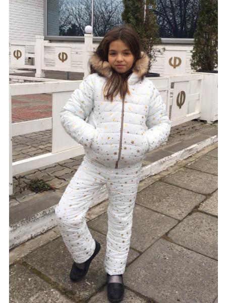 Костюм детский зимний на синтепоне со звездами