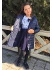Детская куртка пальто из плащевки для девочки