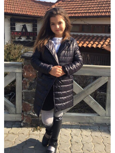 Дитяча куртка пальто з плащової тканини для дівчинки