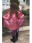 Дитяча куртка пальто металік для дівчинки