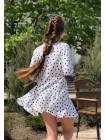 Красиве дитяче плаття в горошок з рукавом