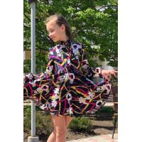 Красивое детское платье с длинным рукавом