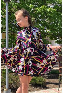 Красиве дитяче плаття з довгим рукавом