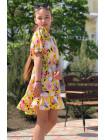 Летнее детское платье с открытыми плечами