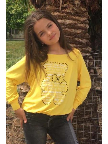 Детский яркий свитшот для девочки