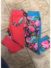 Детские лосины для девочек с цветочным принтом