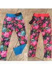 Дитячі лосіни для дівчаток з квітковим принтом