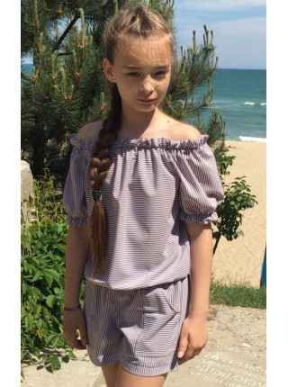 Літній комбінезон для дівчинки в полоску
