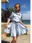 Літнє дитяче плаття рубашка фасону сонцекльош