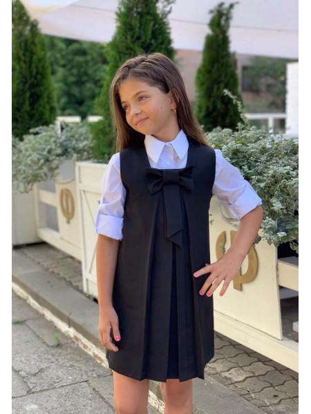 Дитячий шкільний сарафан трапеція
