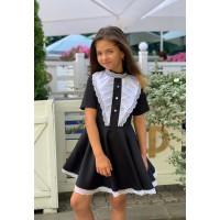 Дитяче шкільне плаття з пишною спідницею