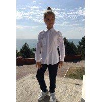 Школьная блузка с длинным рукавом для девочки
