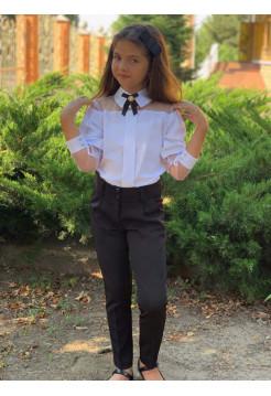 Детские школьные брюки для девочки