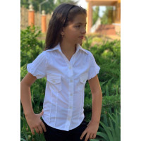 Блузка з коротким рукавом для дівчинки