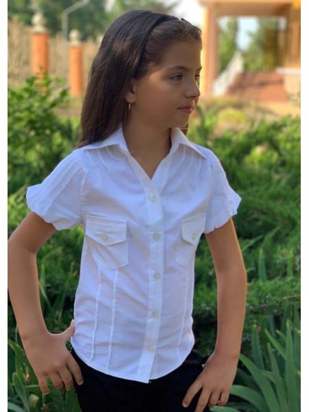 Блузка с коротким рукавом для девочки
